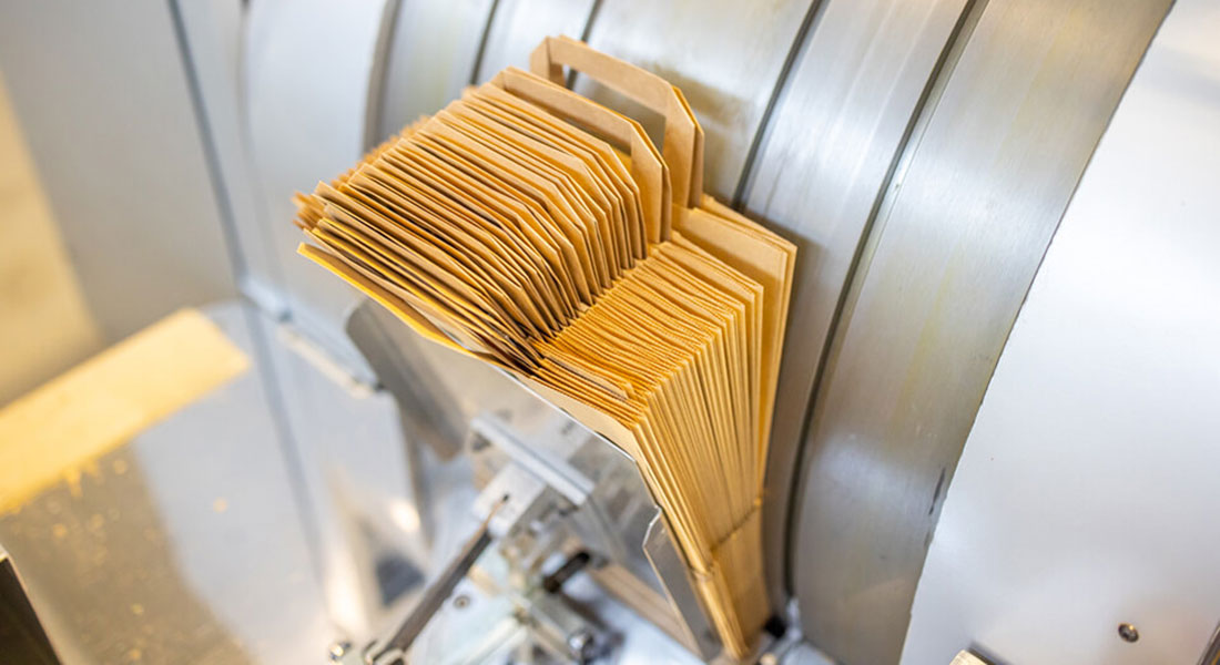 Papiertragetaschen mit Flachgriff
