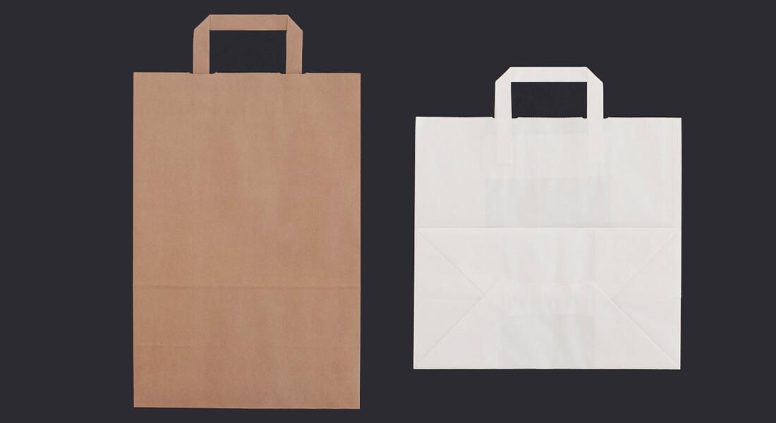 Papiertragetaschen mit Flachgriff 3